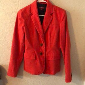 Merona red-orange blazer size 2